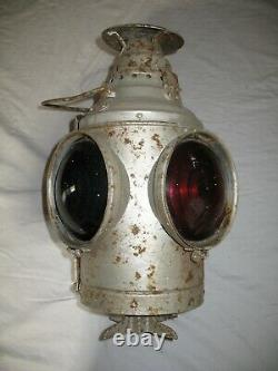 DRESSEL Railroad Signal Lantern Unrestored -Complete Arlington NJ USA