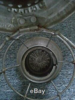 Delaware Hudson D&HRR Railroad Bell Bottom Lantern Adlake Scripted Globe Clear