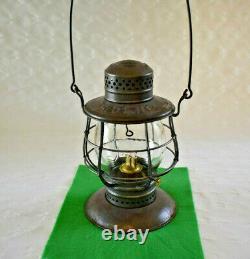 Delaware & Hudson (d&h) Railroad C. T. Ham #39 B-b Lantern Emboss'd Script Globe