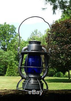 Delaware Lackawanna & Western RR DL&WRR Dietz Vesta Railroad Lantern Blue Globe