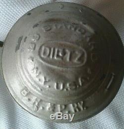 Dietz 39 Standard Railroad Lantern, Amber Globe, Buff, Roch & Pitts Railway