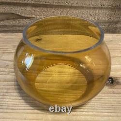Dietz Amber Glass Railroad Lantern Globe Vintage Height About 8.2cm Used