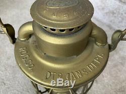 Dietz New York Vesta Lantern R. D. G. Co Trans Dept P & R. R. Y Railroad Etched Globe