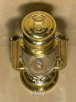 Dietz No. 20 Junior Brass Kerosene Lantern Railroad Style Gold Tone Brass Lamp