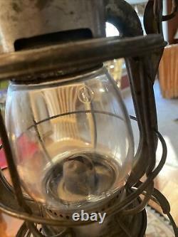 Dietz Vesta NYCS railroad lantern NY Central kerosene lamp vintage Embossed