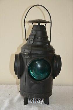 Dressel 4 Lens Railroad Switch Lantern-Post Mount-2 Green 2 Amber Lenses