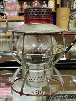 Dressel M K T RR Missouri Kansas Texas Railway /w Etched Globe Switchman Lantern