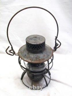 Dressel PRR Railroad Train Lantern CNx Glass Globe Lamp Kerosene Light