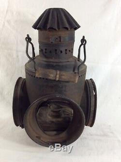 Dressel Three Lens Railroad lantern NYC & H. R. R. R. New York Central and Hudson