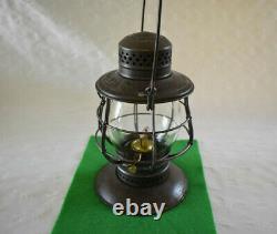 Early #39 C. T. Ham Lantern, The D&h Co. Railroad, Embossed Script Globe, B-b