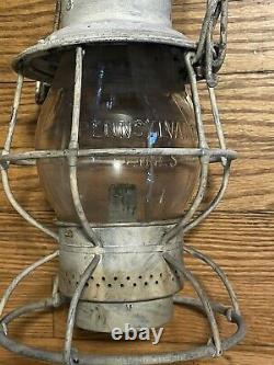 Early Antique Pennsylvania Lines Adlake Railroad Lantern