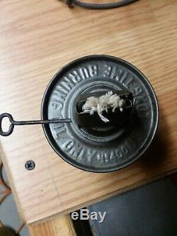 Erie Lackawanna Railroad Lantern Adlake kero lantern unfired clean Cnx globe emb