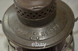 Erie Railroad Rayo #39WB Lantern withRed Cast E. R. R. Co Globe
