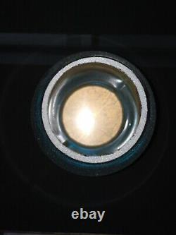 Etched Burlington Route Railroad Lantern Globes (2) 1 Amber And 1 Signal Green