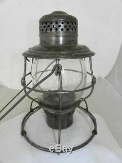 FRISCO RAILROAD LANTERN Clear Etched FRISCO Lantern Globe
