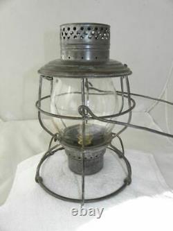 FT. SMITH & WESTERN RAILROAD LANTERN Clear CNX Lantern Globe