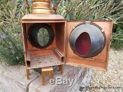 Fabulous German Vintage Solid Copper Railway Lantern Display Prop Ref T13/20