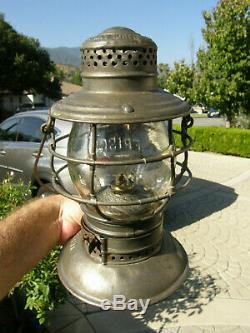 Frisco Handlan Buck Bell Bottom Railroad Lantern Matching Cast Meg Co Globe