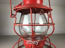 Frisco Railroad Tall Globe Handlan Lantern