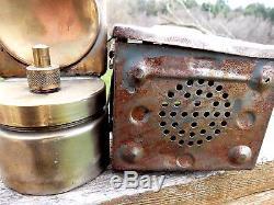 German Railroad Lantern Osnabrucker Miners Lantern German Eagle 1951 Carbide