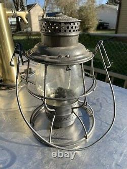 Great Northern Railroad Lantern With Cast Globe