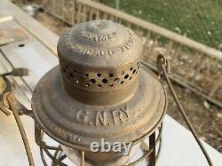 Great Northern Railway Tall Globe Lantern