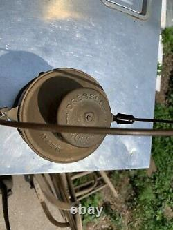 Gulf Colorado & Santa Fe Railroad Lantern Withcast Globe