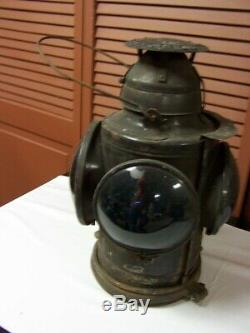 HANDLAN St. Louis Railroad Marker Lamp Train Lantern Signal RR 4-way with bracket