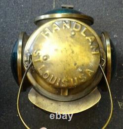 Handlan St. Louis USA Frisco 4 Way Railroad Signal Lantern / Lamp
