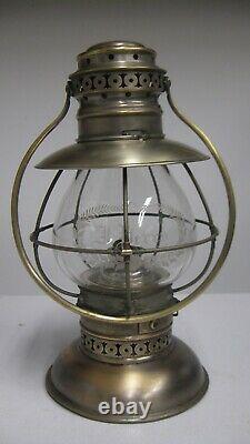 Kelly Brass Fixed Globe Presentation Railroad Lantern J Perry Peoples RR TG&R RR