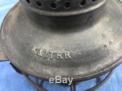 Kentucky & Indiana Terminal Railroad Lantern Red Globe Dressel K&IT / Southern