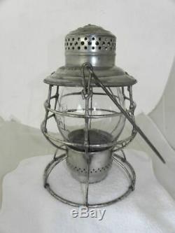 LAKE SHORE & MICHIGAN SOUTHERN RAILROAD LANTERN Clear Cast Lantern Globe