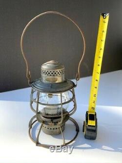 Lantern, Antique Railroad Signal Lamp, DL&WRR