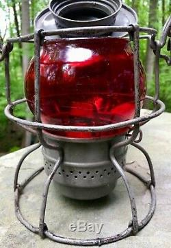Lantern Armspear 1925 PRR Pennsylvania Railroad Dressel Burner & Red PRR Globe