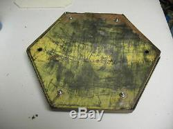 Large 14x12 8 Pound Old Railroad Xing Reflector With 61 Red Marbles VG Condition