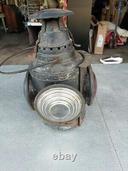 Large Antique Dressel Railroad Lantern