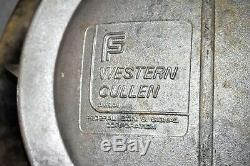 Large Original Vtg Western Cullen Railroad Crossing Warning Signal Light Sign