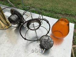 M. K. &T. RR. Railroad Lantern WithAmber Marked Globe