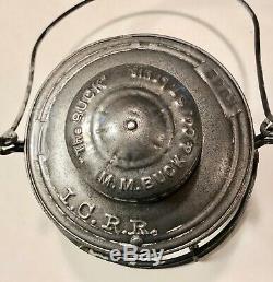 M. M. BUCK & CO. THE BUCK I. C. R. R. Illinois Central Railroad Lantern