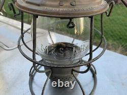 M. &St. L RY Tall Globe Railroad Lantern Withcast Globe