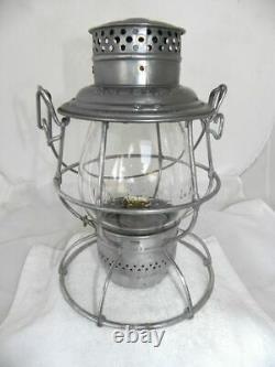 MILWAUKEE ROAD CM&STPRY RAILROAD LANTERN Clear Cast EB Lantern Globe