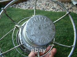 MISSOURI PACIFIC RAILROAD LANTERN Clear Cast EMBOSSED MP Lantern Globe
