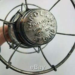 MOPAC Railroad Lantern Handlan St Louis Clear Globe With M. P. On Glass Rare