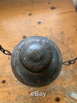 Missouri Kansas & Texas Embossed Globe Railroad Lantern-M. K. &T. Ry-Trainmen RARE
