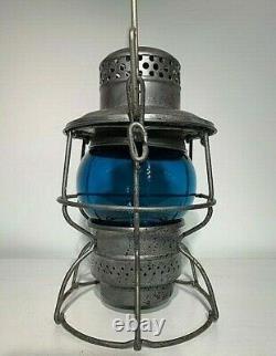 Monon (monon Railroad) Adlake Kero Railroad Lantern Green Globe