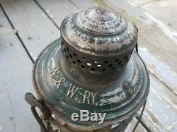 N&W RY Armspear Lantern NORFOLK & WESTERN Railroad RR cast globe