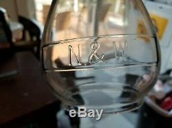 N&W Railroad Lantern EXTENDED BASE GLOBE Norfolk & Western RR Railroad