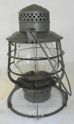 NORTHERN PACIFIC RAILROAD LANTERN Clear Cast NPRR EB Lantern Globe