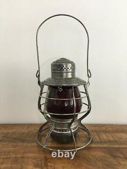 NORTHERN PACIFIC RAILROAD LANTERN FLASHED Red Cast NPRR Extended Base Globe