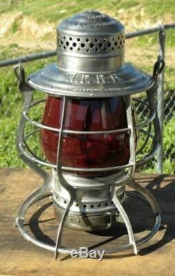 NORTHERN PACIFIC RAILROAD LANTERN Red Cast NPRR EB Lantern Globe